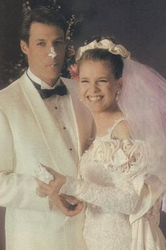 Jack Deveraux and Jennifer Wedding 1980s Wedding, End Of An Era, Family Tv, Days Of Our Lives, Classic Tv, Summertime, Jackson, Wedding Day, Flower Girl Dresses