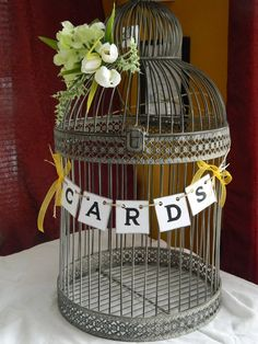 Wedding Cards Box Suitcase Banner-Wedding Cards Birdcage Sign- Rustic Cards Suitcase Sign- You Pick The Colors on Etsy, $7.00