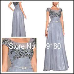 Neue Elegante Appliqued Plissee Bodenlangen Lange Gewohnheit Design Abendkleid ZH7311 Kleid Flügelärmeln Vestido Noiva //Price: $US $155.00 & FREE Shipping //     #abendkleider