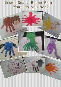 Brown Bear hand print craft