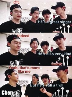 keke no matter what Chen Chen is always a troll~! keke and he will be the best & biggest troll i knew keke