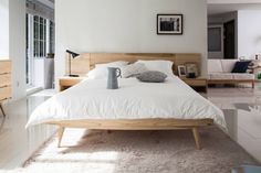 6534 라플란드 내추럴 모던 원목 침대 (출처 시더스디자인그룹)