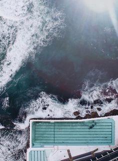 Scanu's stunning images reveal how wonderfully close Sydney icons like Icebergs pool at Bondi are to the ocean. Bondi Icebergs, Australia Tourism, Australia Trip, Sydney Australia, Sydney Beaches, Airlie Beach, Before Sunset, Enjoy Summer, Summer Work