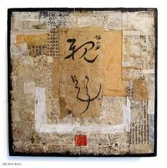 International Biennial for Paper & Fibre Art Love Collage, Paper Collage Art, Mixed Media Collage, Paper Art, Asian Mixed Media Art, Asian Art, Art Journal Pages, Art Pages, Tea Bag Art