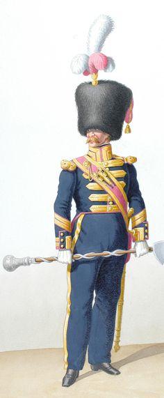 1828. Line Infantry. Drum Major, Corporal Sapper (45th Regiment)