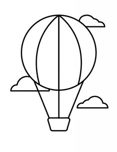 Balloon template - Free Printable Coloring Pages Of Hot Air Balloons Free Printable Coloring Pages, Coloring Pages For Kids, Coloring Sheets, Easy Drawings For Kids, Drawing For Kids, Balloon Template, Kindergarten Coloring Pages, Balloon Crafts, String Art Patterns