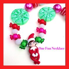 Handmade Elf on a Shelf Polymer Clay Pendent by OneFunNecklace You can find me on Etsy at OneFunNecklace