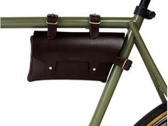 BILLYKIRK NO. 211 BIKE POUCH.    Too perfect. If only I rode a bike. This thing is cool enough to get me on a fixie! For added fun, I'd fill it with my pipe and tobacco, a Choose-Your-Own-Adventure book, and a handgun. Made in the USA out of dead cows. $125