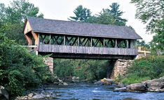 Packard Hill Covered Bridge in Lebanon, New Hampshire http://uppervalleynhvt.com/lebanon-new-hampshire/ #LebanonNH #UpperValley #CoveredBridge