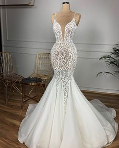 dresses mermaid Only bridals Gorgeous Beaded Lace Mermaid Wedding Dress. dresses mermaid Only bridals Gorgeous Beaded Lace Mermaid Wedding Dress 2020 Sexy V Neck Backless Ruffles Train Wedding Gowns dresses 2020 Top Wedding Dresses, Lace Mermaid Wedding Dress, Wedding Dress Trends, Mermaid Dresses, Bridal Dresses, Bridesmaid Dresses, Gown Wedding, Wedding Ideas, Wedding Cakes