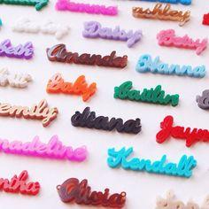 Acrylic Name Necklace - Lauren Font {30 Color Options}