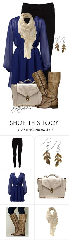 """""""Leaf Earrings"""" by sydneyac2017 ❤ liked on Polyvore featuring Warehouse, Jody Coyote, Forever New and Free People"""