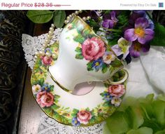 Paragon Bone China Tea Cup by Appointment  - Tapestry Rose Design Pink