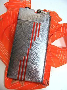 Deco Era Cigarette ligher case by EVANS by ScribbleFitz on Etsy, $100.00
