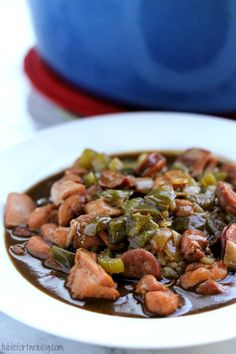 I ♥ gumbo! I usually take pieces of various recipes to create my own [Chicken and Andouille Sausage Gumbo]