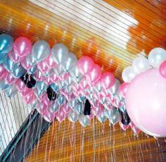 Como fazer decoração com balões no teto