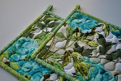 Quilted Potholders Amy Butler Contemporary by cachecreekquilts. , via Etsy.