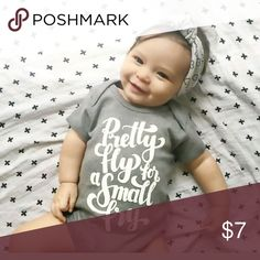 Pretty Fly for a Small Fry ? 100% brand new and high quality? New style for baby, chic letter printing, and soft wearing effect? Classy sewing ahd hemming tech? Romper only, any not included Material: Cotton? One Pieces Bodysuits