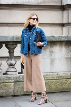 How to Style Culottes - Street Style, Lucy Williams, Fashion Me Now Blog, Spring Trends