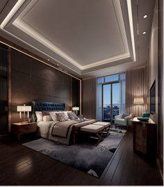 Romantic bedroom. Ultra-luxurious