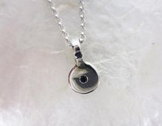 Sterling Silver Pendant with Sapphire or Ruby by vixjewellery, $180.00