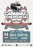 """""""caravana de emerxencias"""" festival gratuito en Sala Capitol de Santiago de Compostela el 4 de Abril"""