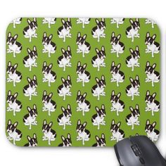 #Cute double hooded pied French Bulldog Mouse Pad - #Petgifts #Pet #Gifts #giftideas #giftidea #petlovers