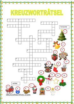 Kreuzworträtsel - Weihnachten