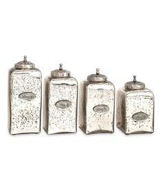 Look at this #zulilyfind! Numbered Mercury Glass Jar Set #zulilyfinds
