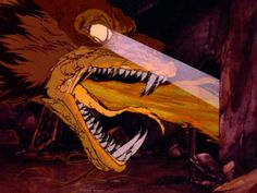 Hobbit 1977 Smaug (aka me searching for food in the fridge)<<<Oh my goodness that description