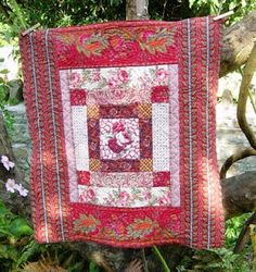 """""""Using many of my favourite red fabrics and Welsh quilting patterns."""" By Mary Jenkins, a fellow pinner."""