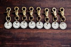 GROOMSMEN Eight  The Salty Dog Key Fob   CUSTOM by SycamoreHill, (Set of Eight) $184.00      Functional and practical thank you gifts for your Groomsma Groomsmen and the Groom!  Personalized custom initials and monograms.  Key chains with longitude and latitude of your wedding location.