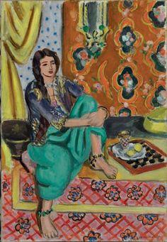 """Odalisca de Matisse. """"Cuando Matisse murió, me dejó en herencia sus odaliscas, y es mi idea de oriente, aunque yo no lo haya visitado nunca.""""(Pablo Picasso) http://themaskedlady.blogspot.com.es/"""