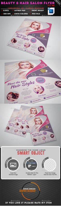 Beauty Salon Flyer Template Free PSD 1 Pinterest Flyer - hair salon flyer template