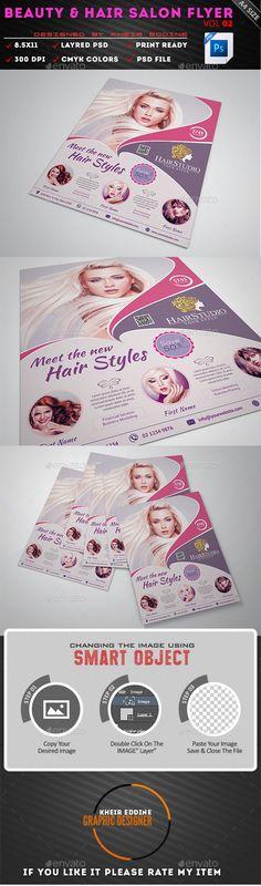 Beauty Salon Flyer Template Free PSD 1 Pinterest Flyer - hair salon flyer template