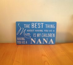 Chunky freestanding wooden plaque/sign The by JJAdorableCrafts, £10.00