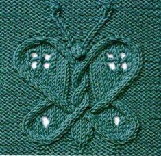 Узор для спиц «Бабочка»