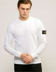 Stone Island Long Sleeve Badge T-Shirt - available at Tessuti, the luxury designer retailer for Men, Women and Children. Football Casuals, Minimal Wardrobe, Stone Island, Mens Fashion, Street Fashion, Chef Jackets, Cool Outfits, Street Wear, Fashion Ideas