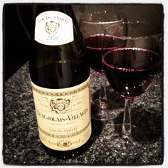 Felt like a Beaujolais night. This one's light and easy. Want some? #wine