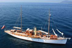 Antique Motor Yachts | Charter Yacht ROMOLA - Classic Schooner Motor Sailer - Turkey ...: