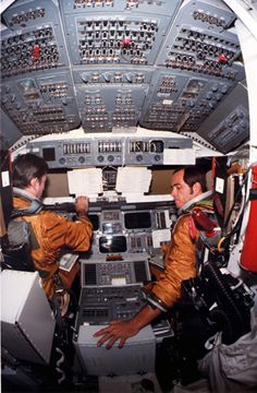 John Young and Robert Crippen fly the very first shuttle flight. Amazingly brave.