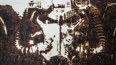 Fallout 4 pyrography work, detail by Carlo Proietto (2015)