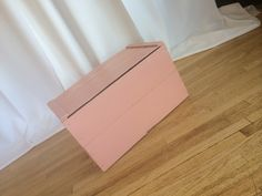 Pink wood box