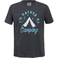 Big Bend Outfitters Men's I'd Rather be Camping T-shirt (Black, Size Medium) - Men's Outdoor Apparel, Men's Outdoor Graphic Tees at Academy Sports