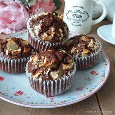 MUFFIN TORTINA CIOCCOLATO E PERE dolce soffice Muffins, Dolce, Breakfast, Tutorial, Ricotta, Cupcake, Food, Cream, Brioche