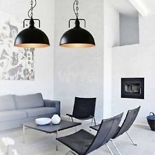 2x Vintage Industrial Black Ceiling Pendant Light Dining Kitchen Office Home