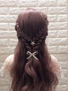 Hairstyle Ideas, Pretty Hairstyles, Braided Hairstyles, Hairdos For Work, Mermaid Braid, Hair Upstyles, Hair Tutorials, Hair Pins, Curls