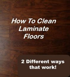 Careing For Laminate Floors
