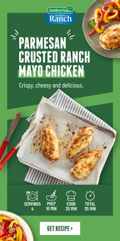 Baked Chicken Recipes, Meat Recipes, Cooking Recipes, Healthy Recipes, Chicken Tenderloin Recipes, Crusted Chicken, Parmesan Crusted, Air Fryer Dinner Recipes, Dining