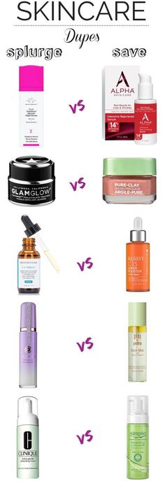 Save: 10 Drugstore Skincare Dupes For High-End Favorites 10 affordable alternatives for expensive skincare products! Swap your luxe skincare products for these drugstore dupes that work just as well as their high-end counterparts! Dupe Makeup, Eyeshadow Dupes, Lipstick Dupes, Beauty Care, Beauty Hacks, Diy Beauty, Homemade Beauty, Luxury Beauty, Skin Care Routine For Teens